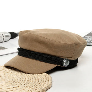 French Style Wool Baker's Hat for Women