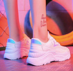 Lace-Up Fashion Breathable Women Sneakers
