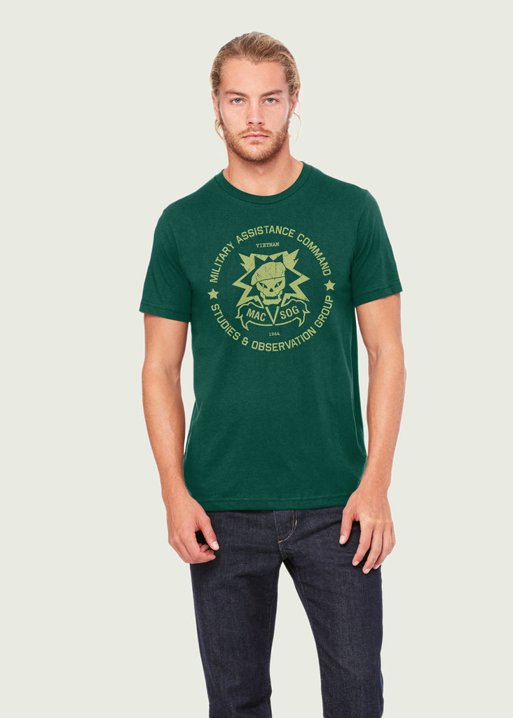 Men's Call Of Duty Inspired MAC v SOG Green Gamer T-Shirt