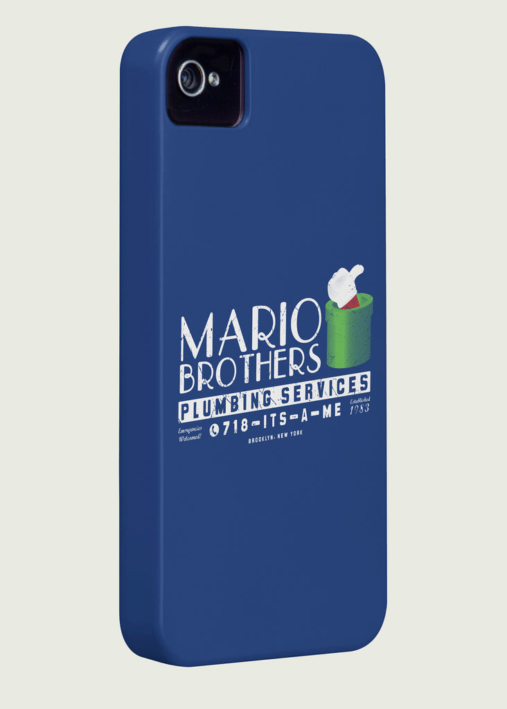 Mario Brothers Plumbing Services Gaming Phone Case Inspired by Super Mario Bros
