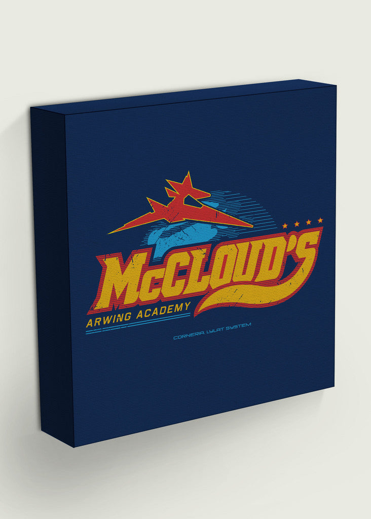 McCloud's Arwing Academy Square Gaming Canvas Inspired By Star Fox
