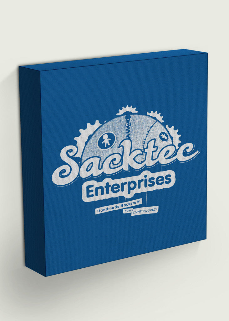 Blue Sacktec Enterprises Square Gaming Canvas Inspired By LittleBig Planet