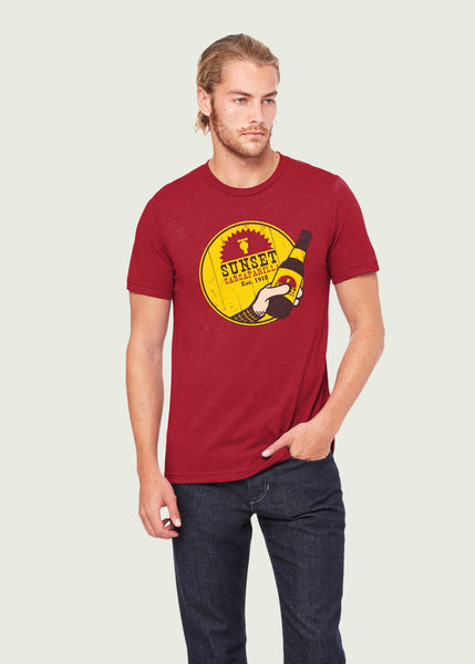 Men's Red Sunset Sarsaparilla Gamer T-Shirt