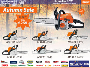 Stihl Autum Promotion Chainsaw Leafblower