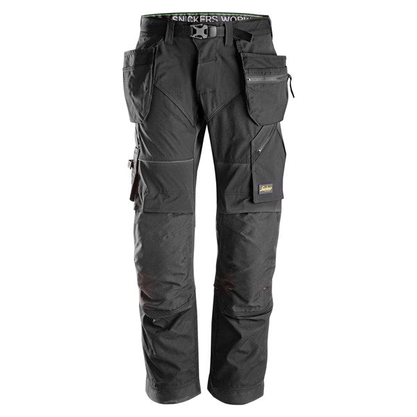 Snickers 6902 FlexiWork Work Trousers+ Holster Pockets (0404 Black)