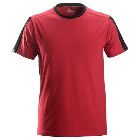Snickers 2518 AllroundWork T-Shirt (1604 Chilli Red/Black)