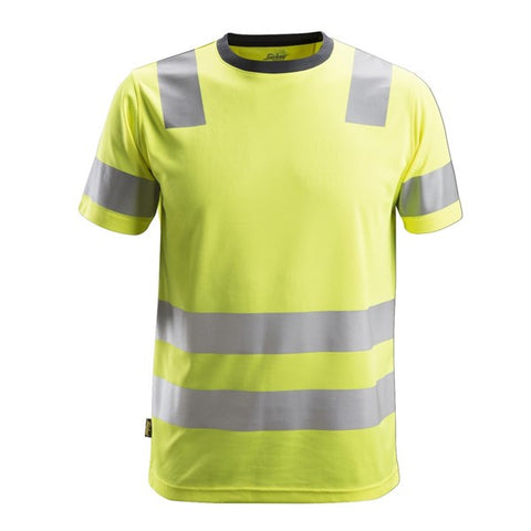 Snickers 2530 AllroundWork High Vis T-Shirt (6600 Yellow)