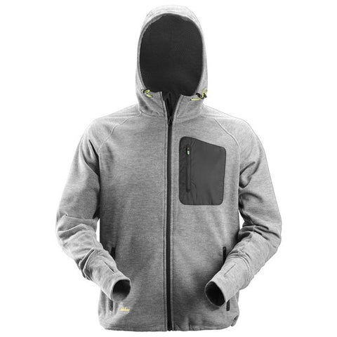 Snickers 8041 FlexiWork Fleece Hoodie (1804 Grey/Black)