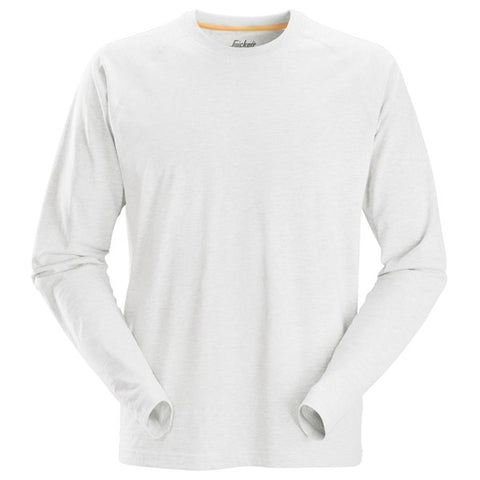 Snickers 2410 AllroundWork Long Sleeve T-Shirt (0900 White)