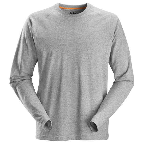 Snickers 2410 AllroundWork Long Sleeve T-Shirt (2800 Grey Melange)