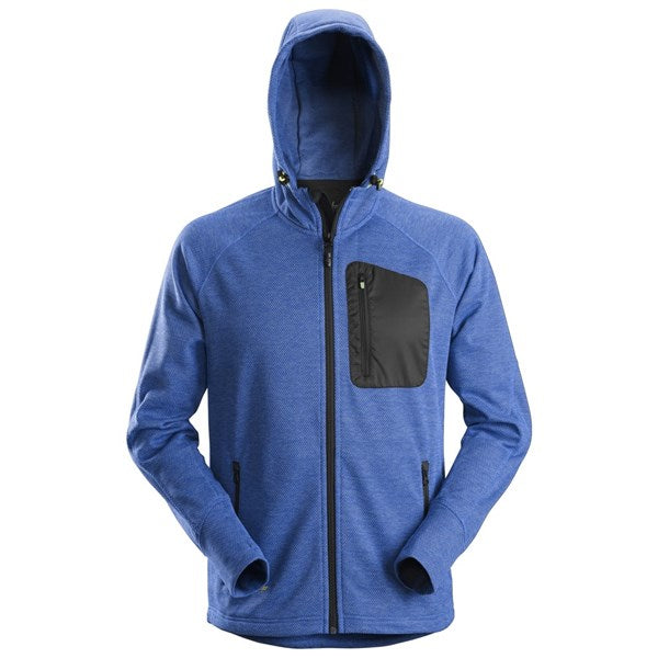 Snickers 8041 FlexiWork Fleece Hoodie (5604 True Blue/Black)