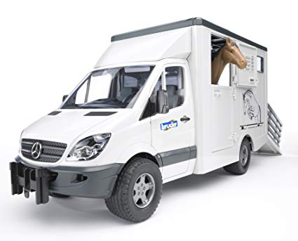 Bruder Mercedes Animal Transporter w/Horse