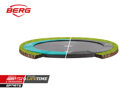 Berg Champion Flat ground Trampoline ( with Padding)