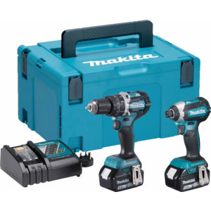 Makita DLX2180TJ 18v Li-ion 2 pcs Combo Kit (2 x 5.0Ah Li-ion batteries and charger DC18RC)