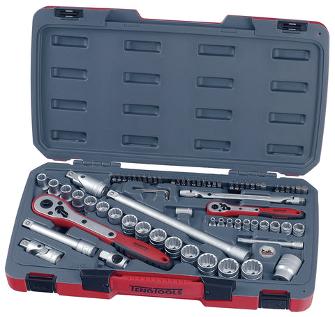 "TengTools T1272 72 Piece 1/4"" & 1/2"" Drive Socket Set"