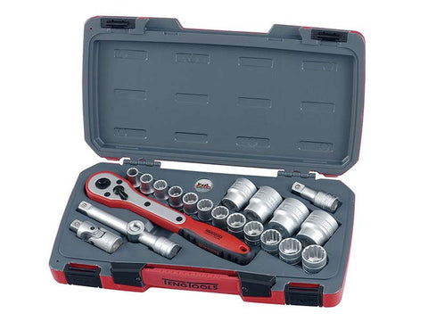 "TengTools T1221 21 Piece 1/2"" Drive Socket Set"