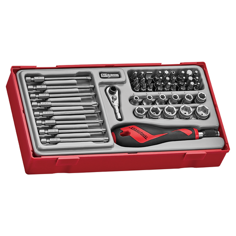 TengTools BITS SET WITH QUICK CHUCK DRIVER 49 PCS