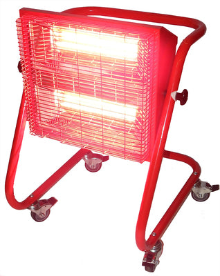 Bison Red 3KW Swivel Head Heater 230V