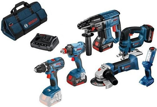 Bosch 6 Piece Combi Kit - With Batteries