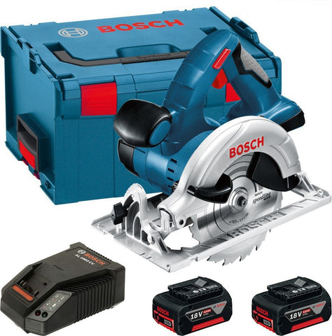 Bosch 18v GKS 18VLI Lithium Ion GKS18VLI Cordless Circular Saw + 2x 5ah Battery