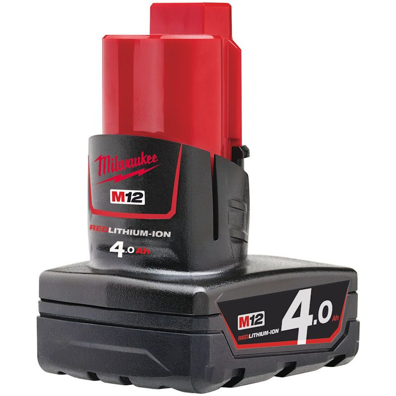 MILWAUKEE M12B4 M12 4.0AH RED LITHIUM-ION BATTERY