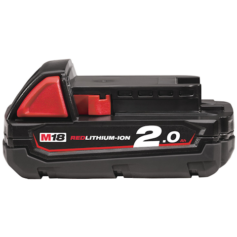 MILWAUKEE M18B2 M18 2.0AH RED LITHIUM-ION BATTERY