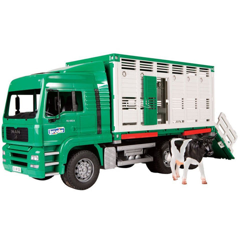 Bruder 2749 MAN Cattle Transporter w/Cow