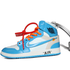 "Porte-Clés Off-White Air Jordan 1 ""UNC"" University Blue - Virgil Abloh"