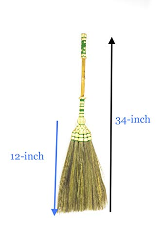 Grass Broom Bamboo Stick Handle for RV's Tent Camping - SKENNOVA -Thailand Handmade