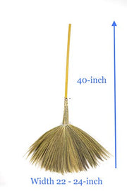 Set of Loincloth Fabric Broom Bag & Thai Traditional Grass - SKENNOVA -Thailand Handmade