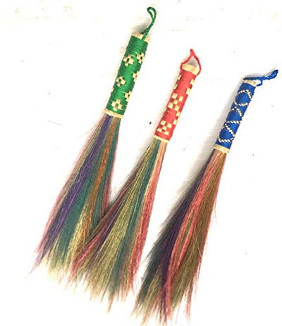 13-Inch Tall of Colorful Dusting Brushes Grass - SKENNOVA -Thailand Handmade