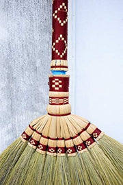 Set of 3 Piece - Natural Grass Broom Sweeping Broom - SKENNOVA -Thailand Handmade