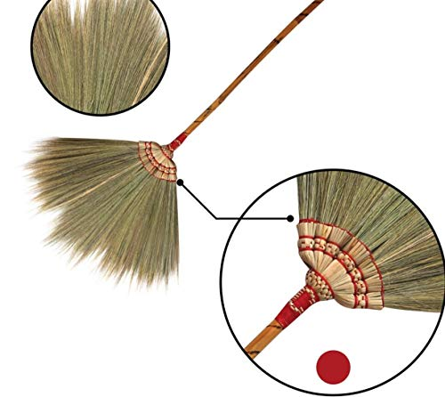 "38-40"" Natural Grass Broom Handmade - SKENNOVA -Thailand Handmade"