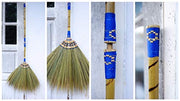 Natural Grass Broom - 2 in 1 Grass Broom - Hand Broom - Handcrafted Whisk Broom - SKENNOVA -Thailand Handmade
