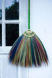 Colorful Natural Grass Broom Thai Vintage Retro Handmade - SKENNOVA -Thailand Handmade