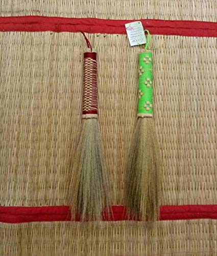 Thai Natural Dusting Brushes Kong Grass Bamboo Stick - SKENNOVA -Thailand Handmade