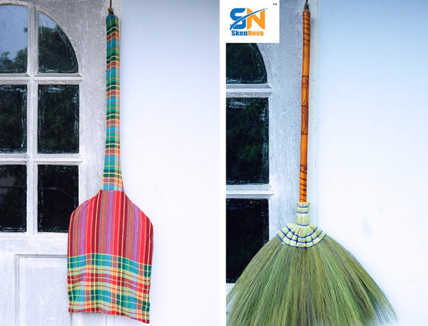 Thai Natural Grass Broom 100% Handmade - SKENNOVA -Thailand Handmade