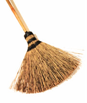 Natural Grass Sweeping Broom Kitchen Broom Handmade - SKENNOVA -Thailand Handmade