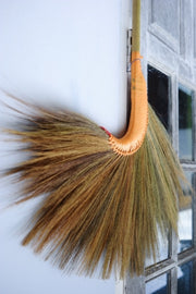 Natural Grass Broom with Bamboo Stick Handle - SKENNOVA -Thailand Handmade