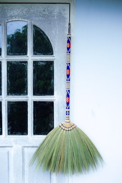 Natural Grass Broom Thai Broom Broomstick - SKENNOVA -Thailand Handmade