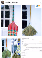Natural Grass Broom 100% Handmade - SKENNOVA -Thailand Handmade