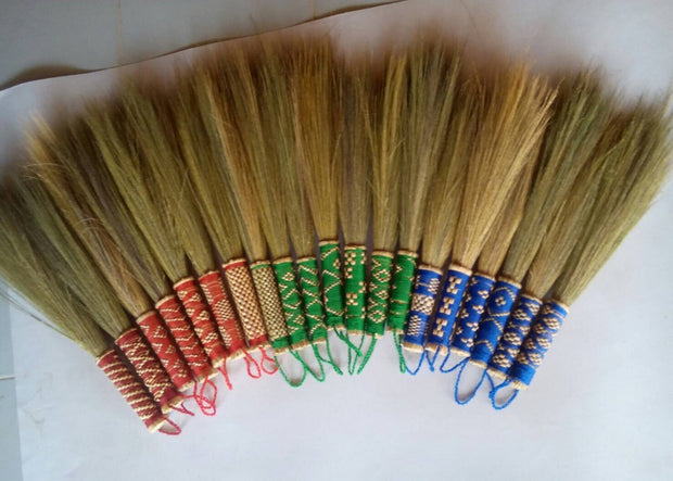 Natural Dusting Brush Grass Broom Handmade - SKENNOVA -Thailand Handmade