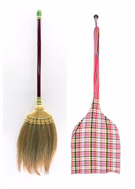 Grass Broom Vintage Retro Made in Thailand Handmade - SKENNOVA -Thailand Handmade