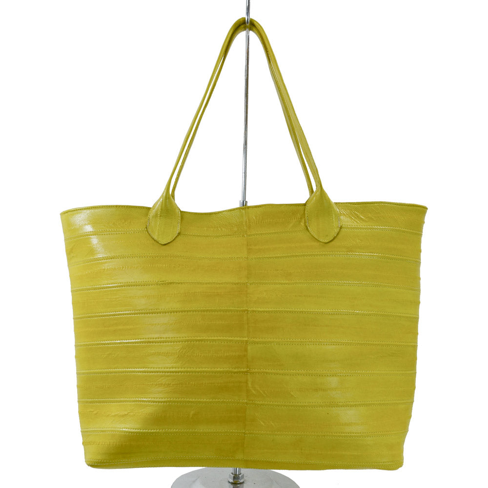 Jane Genuine Eel Leather  Canary Yellow Tote