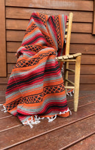 Load image into Gallery viewer, Pow-Wow Rust Orange Yoga Blanket