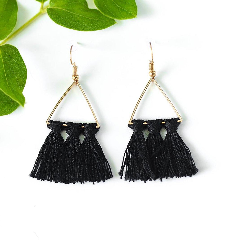Little Black Earrings - More Than Rubies Designs