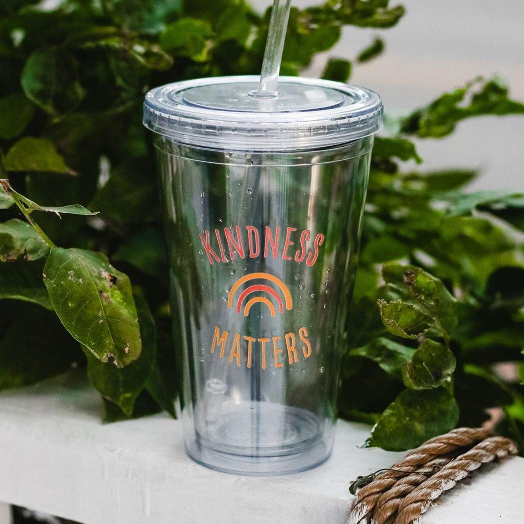 Kindness Matters 16 oz Tumbler - More Than Rubies Designs