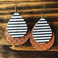 """Gram"" Faux Leather Teardrop - More Than Rubies Designs"