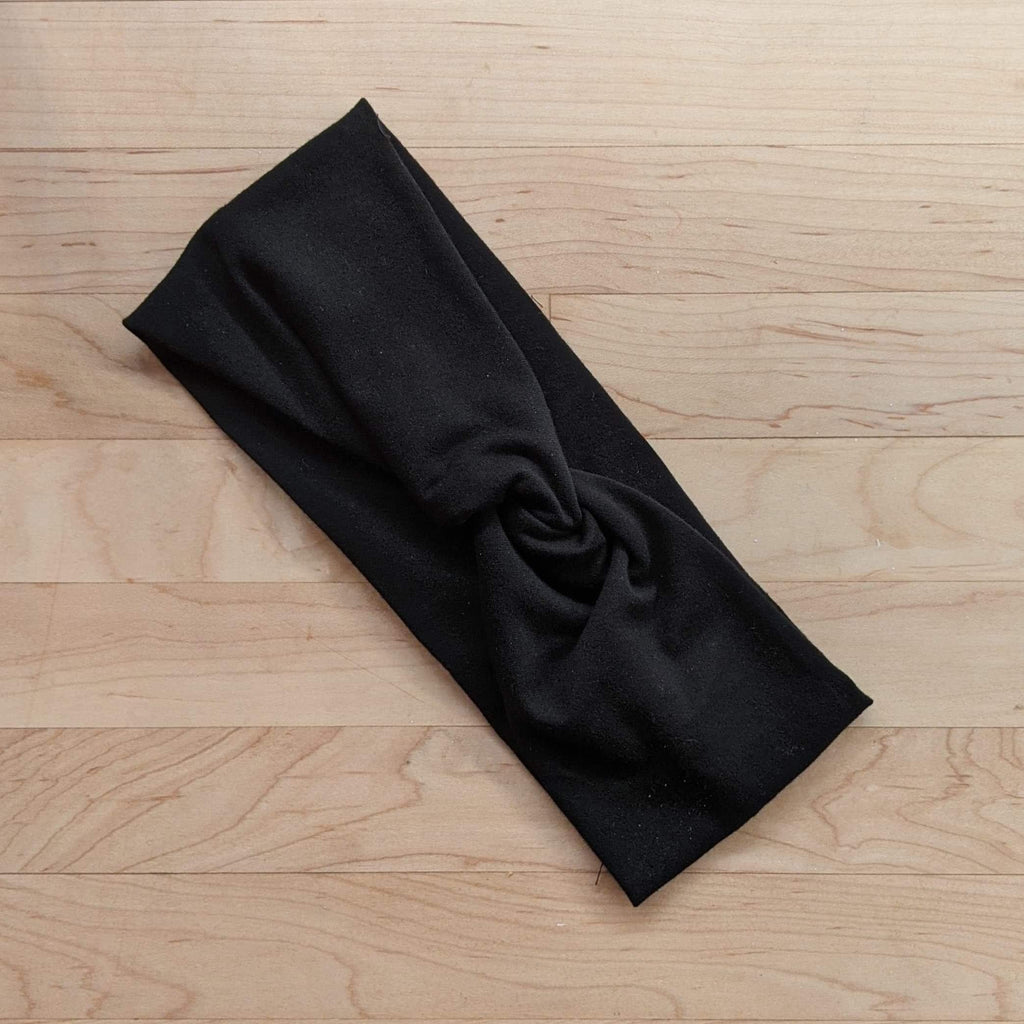 Black Twisted Stretch Headband - More Than Rubies Designs