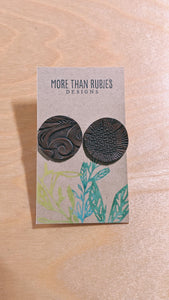 Embossed Leather Stud - More Than Rubies Designs